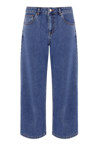 Warehouse, WIDE CUT JEANS Indigo Denim 0