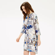 Warehouse, STEM FLORAL SHIFT DRESS Multi 1