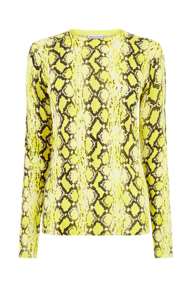 Warehouse, SNAKE PRINT JUMPER Yellow 0