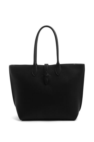 Warehouse, DOUBLE TAB DETAIL SHOPPER BAG Black 0