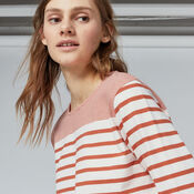 Warehouse, ENGINEERED STRIPE TOP Red Stripe 4