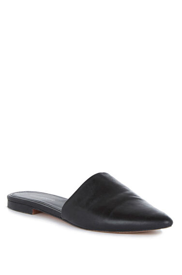 Warehouse, Backless Slip On Shoe Black 0