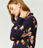 Warehouse, VICTORIA FLORAL SHIRT Navy 4