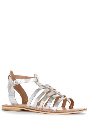 Warehouse, Metallic Gladiator Sandal Silver Colour 0