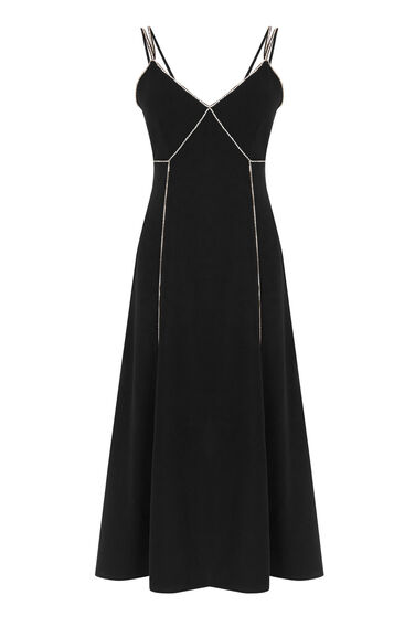 Warehouse, DIAMANTE CAMI DRESS Black 0