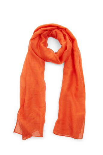 Warehouse, PLAIN LIGHTWEIGHT SCARF Bright Red 0