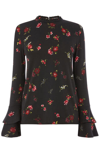 Warehouse, SNOWDROP FLORAL PRINT TOP Multi 0