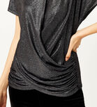 Warehouse, METALLIC KNOT FRONT TOP Silver Colour 4