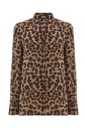 Warehouse, LEOPARD PRINT SHIRT Animal 0