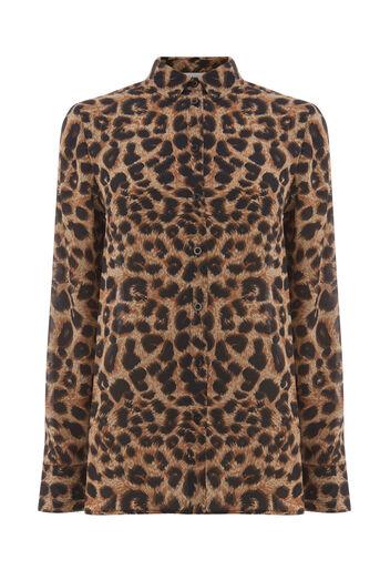 Warehouse, Shirt met luipaardprint Dierenprint 0