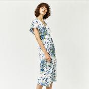 Warehouse, FULL BLOOM WRAP DRESS Cream 1