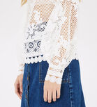 Warehouse, PANELLED LACE TOP White 4