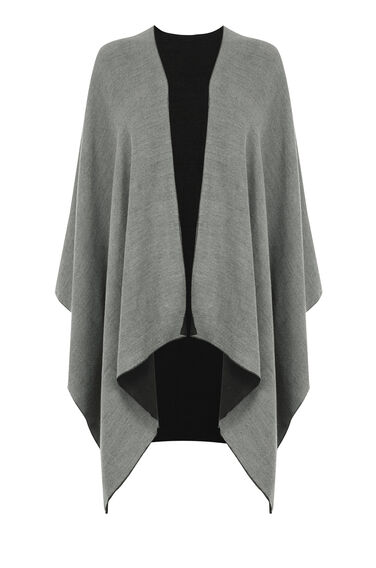 Warehouse, TWO TONE WRAP Dark Grey 0