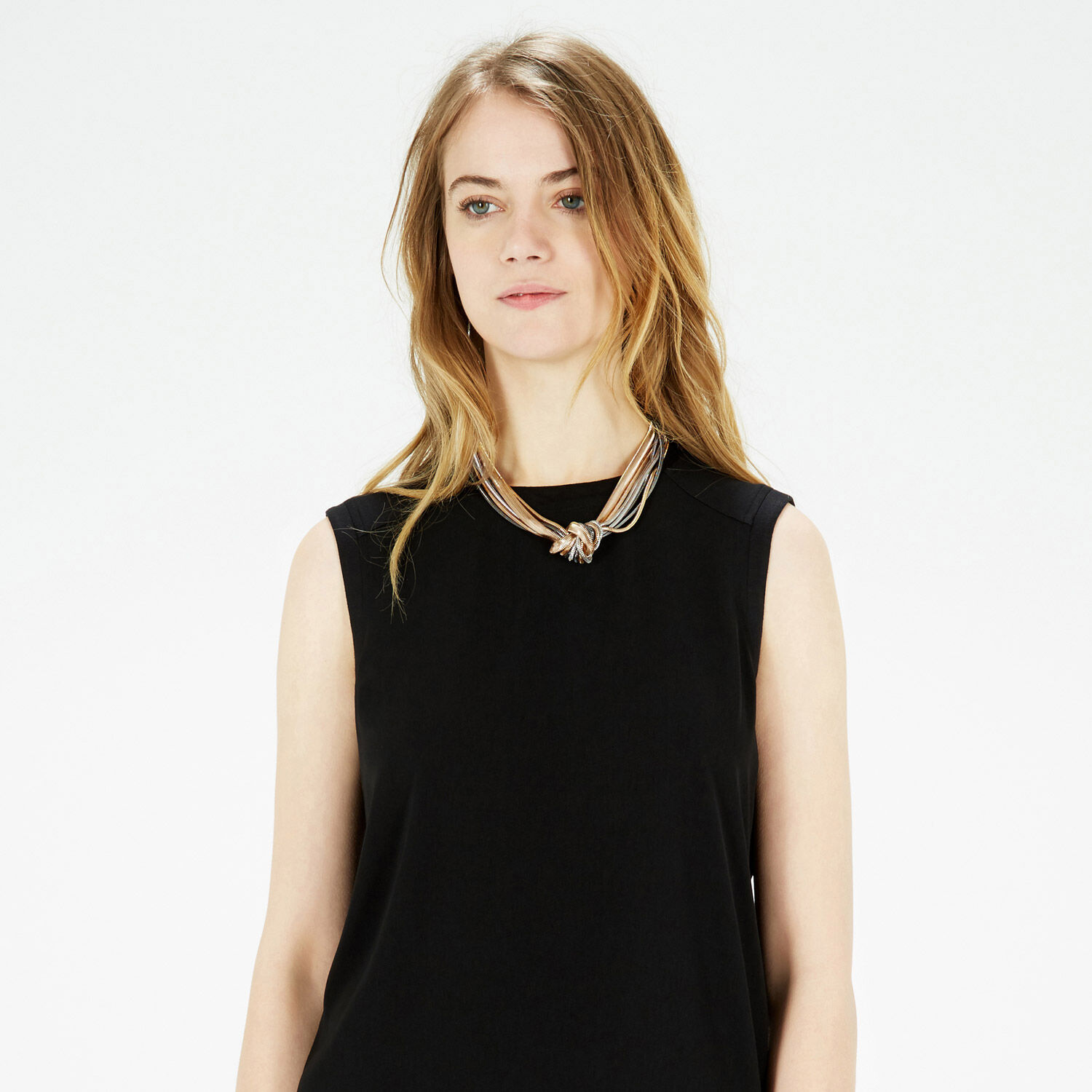 Warehouse, Knotted Snake Chain Necklace Multi 1