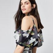 Warehouse, MAGNOLIA WRAP DRESS Multi 4