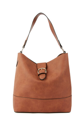 Warehouse, BUCKLE TAB TOTE BAG Tan 0