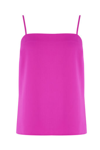 Warehouse, SQUARE NECK CAMI Bright Pink 0