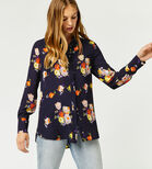 Warehouse, VICTORIA FLORAL SHIRT Navy 1