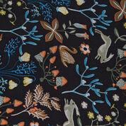 Warehouse, Thistle Print Scarf Black Pattern 2