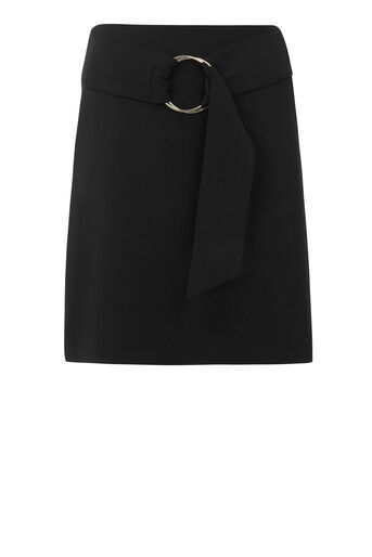 Warehouse, O RING MINI SKIRT Black 0