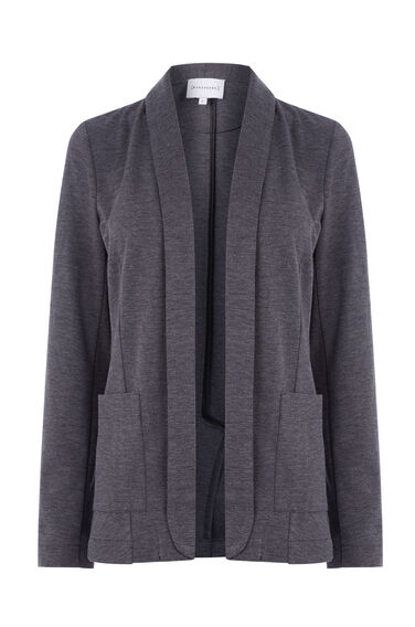 Warehouse, PONTE JACKET Dark Grey 0