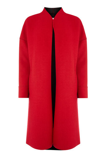 Warehouse, BONDED SWING COAT Bright Red 0