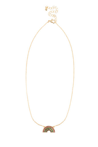Warehouse, RAINBOW NECKLACE Gold Colour 0