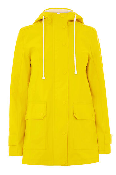 Warehouse, Contrast Trim Anorak Yellow 0