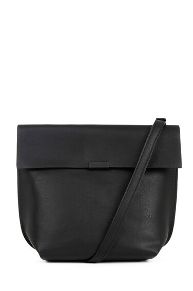 Warehouse, Bonded Crossbody Bag Black 0
