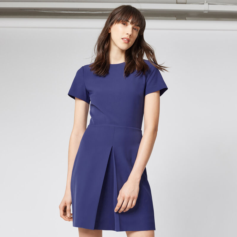 Warehouse, BOX PLEAT DRESS Bright Purple 1