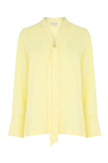 Warehouse, TIE NECK BLOUSE Yellow 0