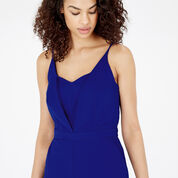 Warehouse, STRAPPY PLUNGE JUMPSUIT Bright Blue 4