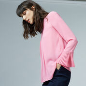 Warehouse, BOX PLEAT TOP Bright Pink 1