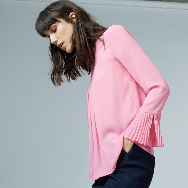 Warehouse, BOX PLEAT TOP Bright Pink 1