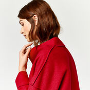 Warehouse, BONDED SWING COAT Bright Red 4