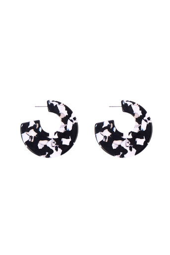 Warehouse, DISC EARRINGS Black Pattern 0
