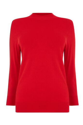Warehouse, FUNNEL NECK JUMPER Bright Red 0
