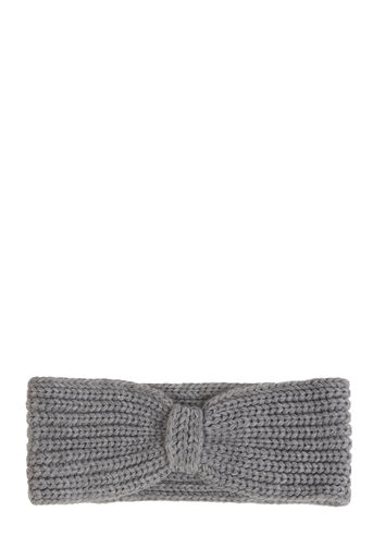 Warehouse, KNITTED RIBBED HEADBAND Light Grey 0