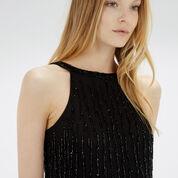 Warehouse, Drop Bead Embellished Dress Black 4
