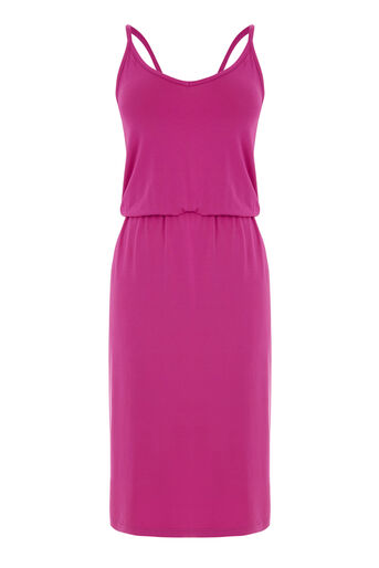 Warehouse, CAMI MIDI DRESS Bright Pink 0