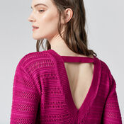 Warehouse, STITCHY OPEN BACK JUMPER Bright Pink 4