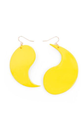 Warehouse, YING YANG EARRINGS Yellow 0