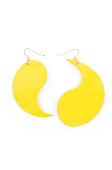 Warehouse, YING YANG EARRINGS Yellow 0