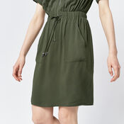 Warehouse, CASUAL UTILITY DRESS Khaki 4