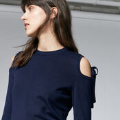 Warehouse, TIE SHOULDER JUMPER Navy 4