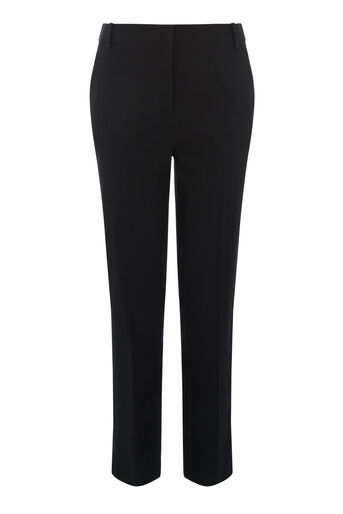 Warehouse, TEXTURED SLIM LEG TROUSER Black 0