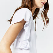 Warehouse, EXAGGERATED FRILL SLEEVE TEE White 4