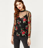 Warehouse, FLORAL EMBROIDERED TOP Multi 1