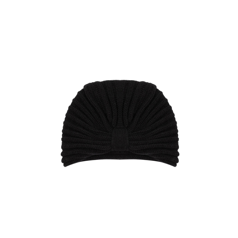 Warehouse, TURBAN HAT Black 1