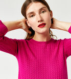 Warehouse, RIPPLE STITCH JUMPER Bright Pink 4